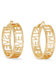 earrings saudi gold vetements gold plated hoop earrings net a porter
