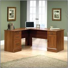 Sauder L Shaped Desk With Hutch Impressive Desk Sauder Palladia L Shaped In Select Cherry Modern