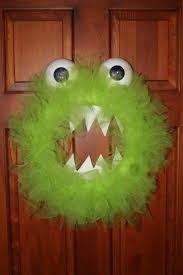halloween wreaths diy diy under 10 monster wreath for halloween