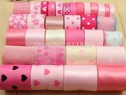 buy ribbon online tc20 pink set for children ribbon material printed grosgrain