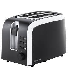 2 Slice White Toaster Russell Hobbs 18535 Mono 2 Slice Toaster Black Homeware Thehut Com