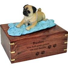 urns for dogs wholesale pet cremation wood urns pug on blanket