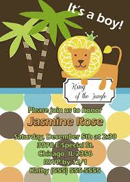 lion and tiger theme baby shower invitation kustom kreations