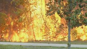 Wildfire Band Texas by Brush Fire Burning Near Middleburg Subdivision 80 Contained