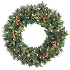 wreath with battery operated led lights wreaths garland