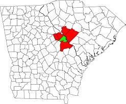 Ga Counties Map File Augusta Richmond County Georgia South Carolina Metropolitan