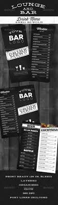 menu bar templates lounge bar drink menu modern modern food drink menu and bar
