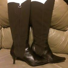 womens brown knee high boots size 11 leather slim heel boots size 11 for ebay