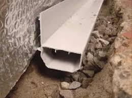 basement waterproofing waterguard perimeter drainage channel