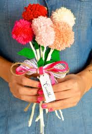 alternative valentines gifts diy valentine s pom pom bouquet camille styles
