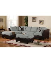 Faux Leather Sectional Sofa Bargains On 3 Modern Soft Reversible Microfiber