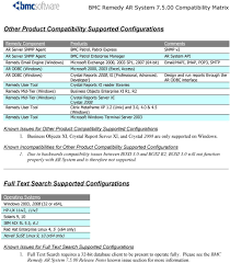 contents bmc remedy ar system compatibility matrix pdf