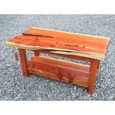 Slab Coffee Table by Red Cedar Slab Coffee Table