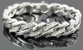 metal link bracelet images Stainless steel link bracelets groupon goods jpg