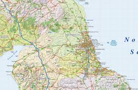 England Train Map by Digital Vector North England County Road And Rail Map 1m Scale