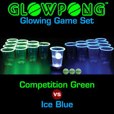 Glow In The Dark Table by Amazon Com Glowpong Glowing Game Set Competition Green Vs Ice