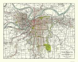 Vintage Map 1926 Kansas City Gallup Map Company Antique Map Feautring The Street C