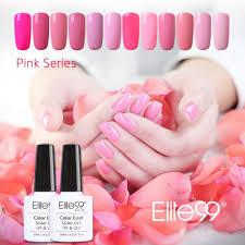 wholesale elite99 pink nails uv led gel polish gorgeous pink