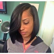 which hair is better for sew in bob side part bob polyvore hair pinterest bobs asymmetrical