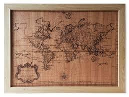 Vintage World Map by Vintage World Map Wall Hanging U2013 Woodchuck Usa Corporate