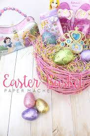 paper mache easter baskets paper mache easter basket a party of four