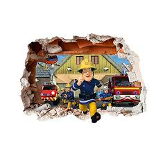 fireman sam design children u0027s repositionable adhesive vinyl