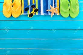 flip flop towel border with striped towel flip flops sunglasses