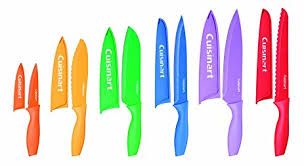 coloured kitchen knives set cuisinart 12 colour knife set with matching