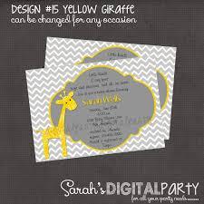 photo baby shower invitations giraffe baby image