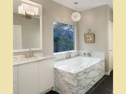 Light Gray Walls by Bathroom Chandelier Over Tub Crystal Pendant Light Bathroom
