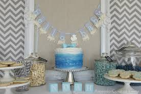 blue and gray baby shower decorations blue u0026 white baby shower