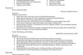 Machinist Sample Resume by Entry Level Machinist Resume Examples Reentrycorps