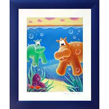 tableau pour chambre bébé tableau hippopotame aquabulle este tableau pour bébé déco bébé