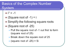 basics of the complex number system