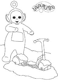 teletubbies noo noo coloring pages download free printable