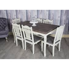 shabby chic dining table heritage shabby chic dining table and 6 chairs
