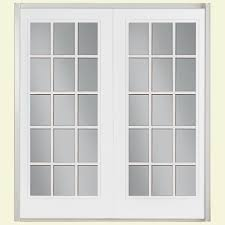 Patio Door Weatherstripping Masonite 60 In X 80 In Primed Prehung Left Hand Inswing 15 Lite