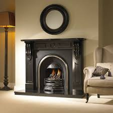 berkley black granite fireplace