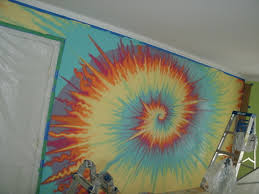 How To Paint Interior Walls by How To Paint A Tie Dye Inspired Fresco Residential Interior Wall