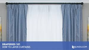 draperies 101 how to layer curtains video gallery