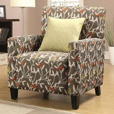 Funky Accent Chairs Excellent Casual Artistic Multi Color Bird Design Living Room Accent Chair Within Multi Colored Accent Chairs Attractive Jpg