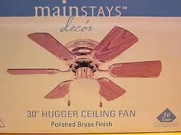 Multi Colored Ceiling Fans by Mainstays 30 Hugger Ceiling Fan Multi Color Finish 6 Blade 3 Speed