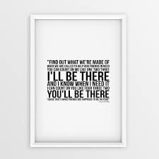 Bruno Mars Count On Me With Lyrics Bruno Mars Count On Me Lyrics Printed On A4 A3 Size Poster Great