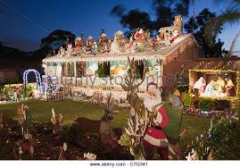 christmas reindeer sleigh garden lights stock photos u0026 christmas
