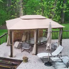 home depot patio gazebo 10 x 13 gazebo replacement canopy gaz 434714 garden winds