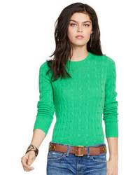 womens ralph sweater s green cable sweaters by polo ralph s fashion