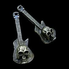 decorating ideas cool guitar skull design metal arts and crafts