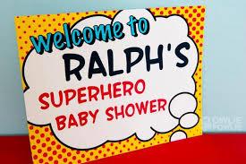 batman baby shower decorations kara s party ideas superboy supergirl baby shower party
