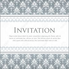 Design Patterns For Invitation Cards Vector Invitation Card With Damask Pattern Royalty Free Cliparts