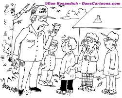 fireman teaching children matches